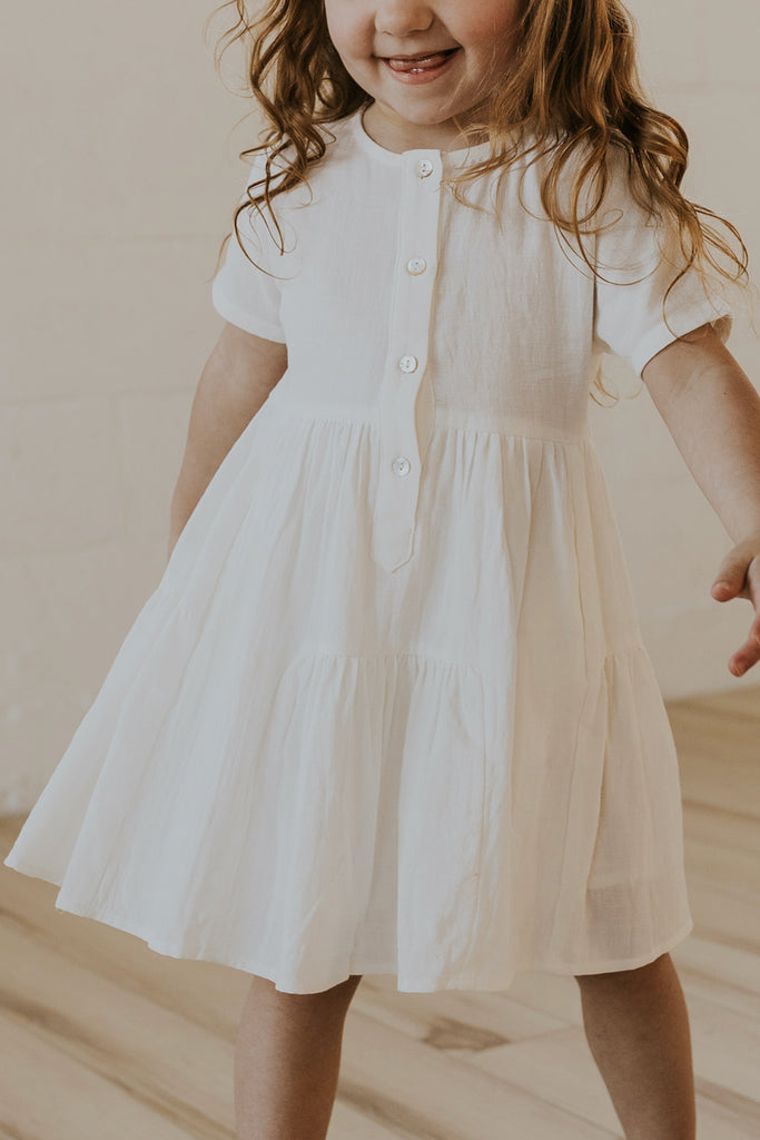 Girl's Spring Button Dress | ROOLEE