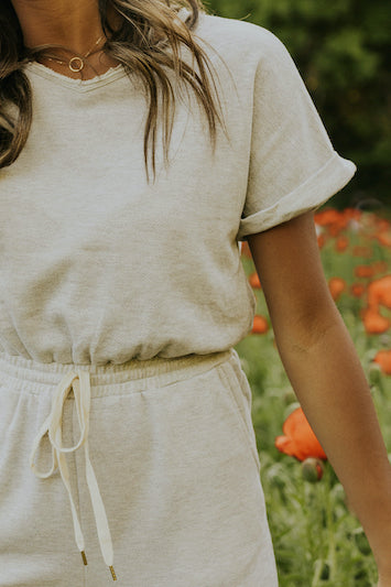 Edgy sweats jumpsuit | ROOLEE