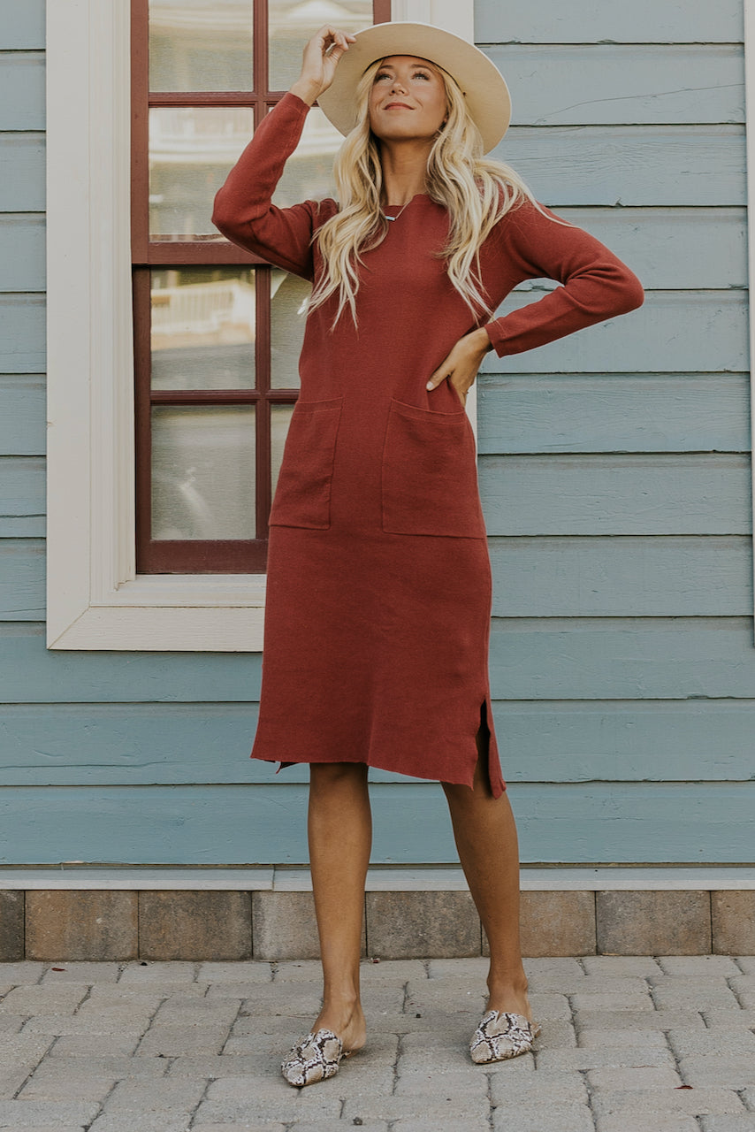 Crew Neckline Holiday Pictures Dresses | ROOLEE
