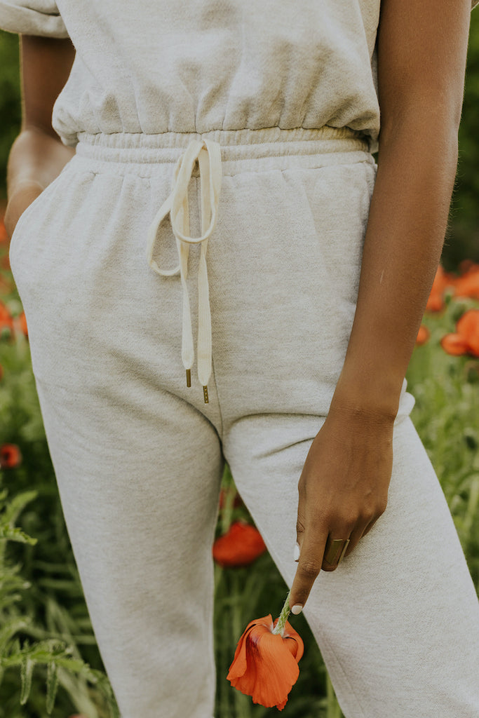 Heather grey sweatsuit | ROOLEE