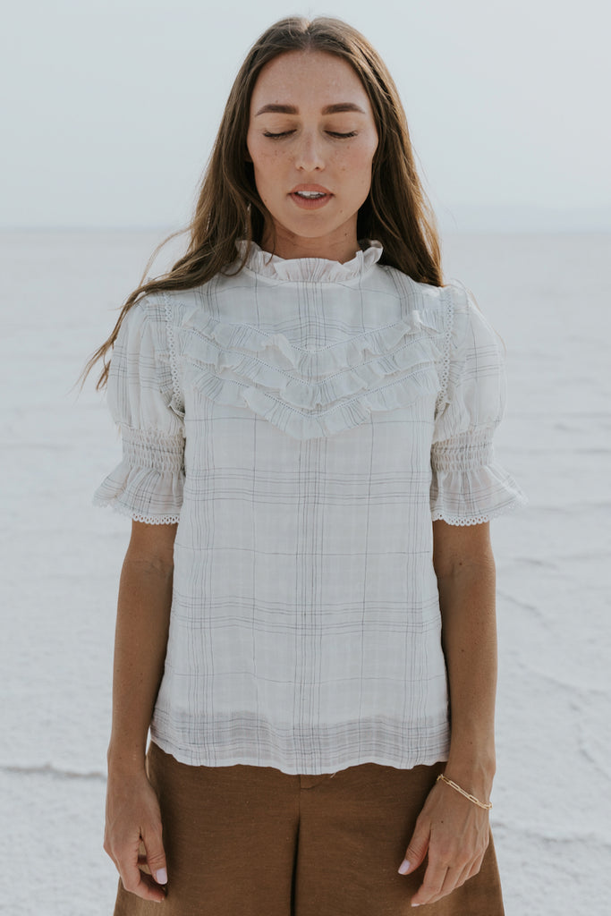 White soft formal blouses | ROOLEE