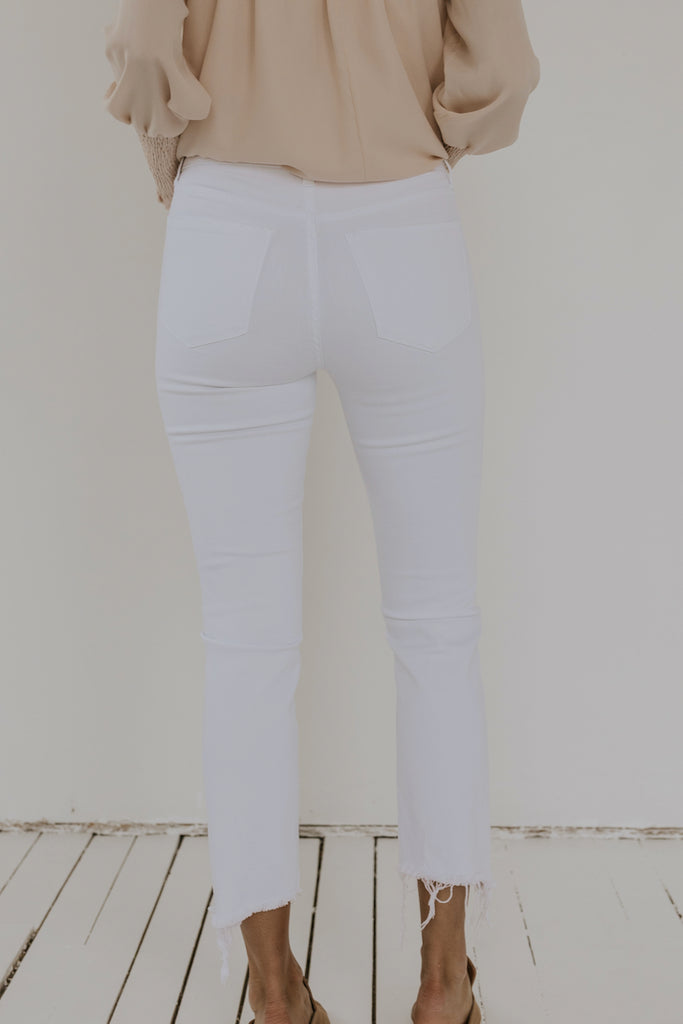 Dare You High Rise Cropped Skinny Jeans