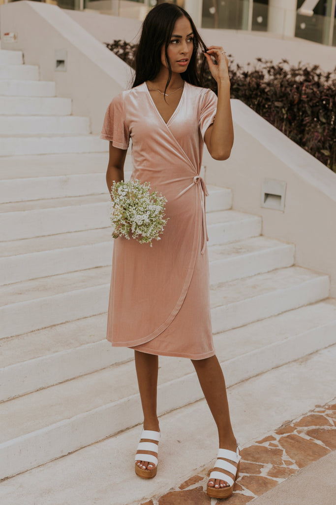 Gorgeous velvet bridesmaid dress | ROOLEE
