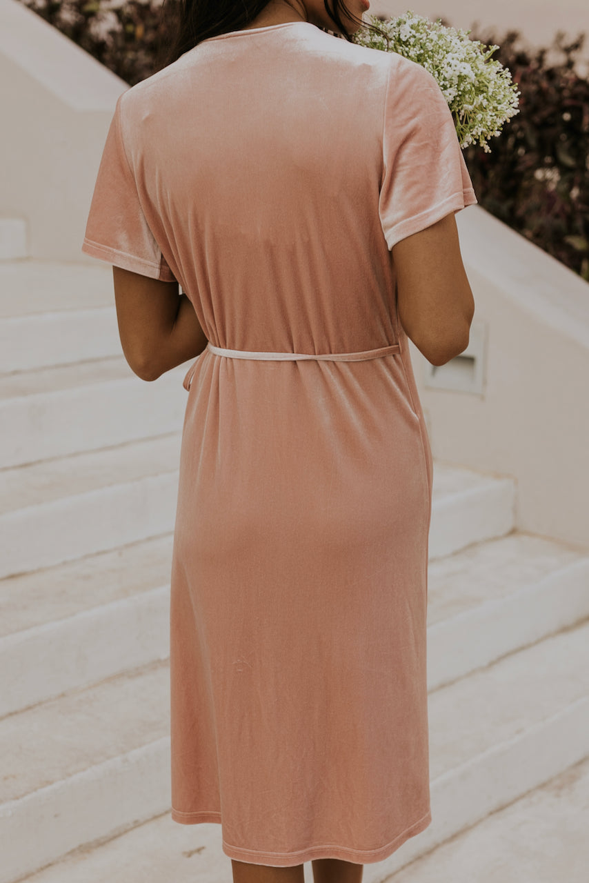 Shiny velvet pink bridesmaid dresses | ROOLEE