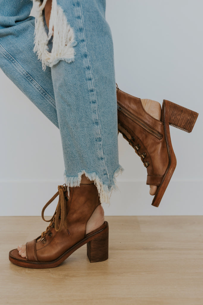 Free People Cut Out Heeled Boots | ROOLEE