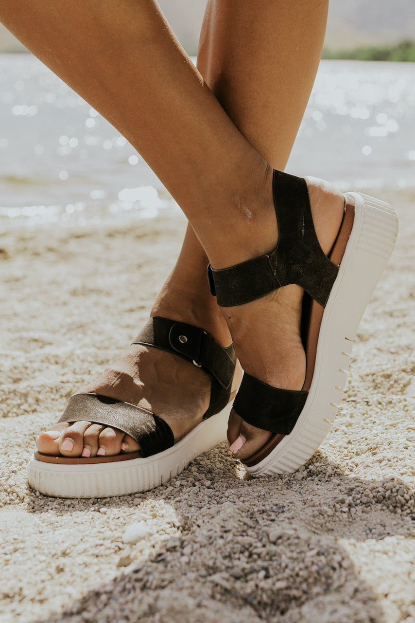 Black strappy sandals | ROOLEE