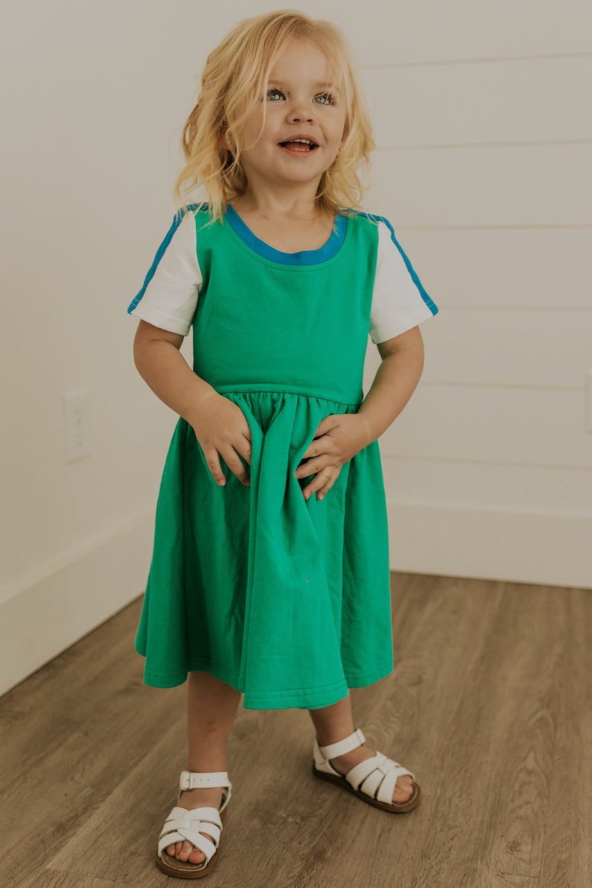 Short Sleeve Green Girls Dresses | ROOLEE