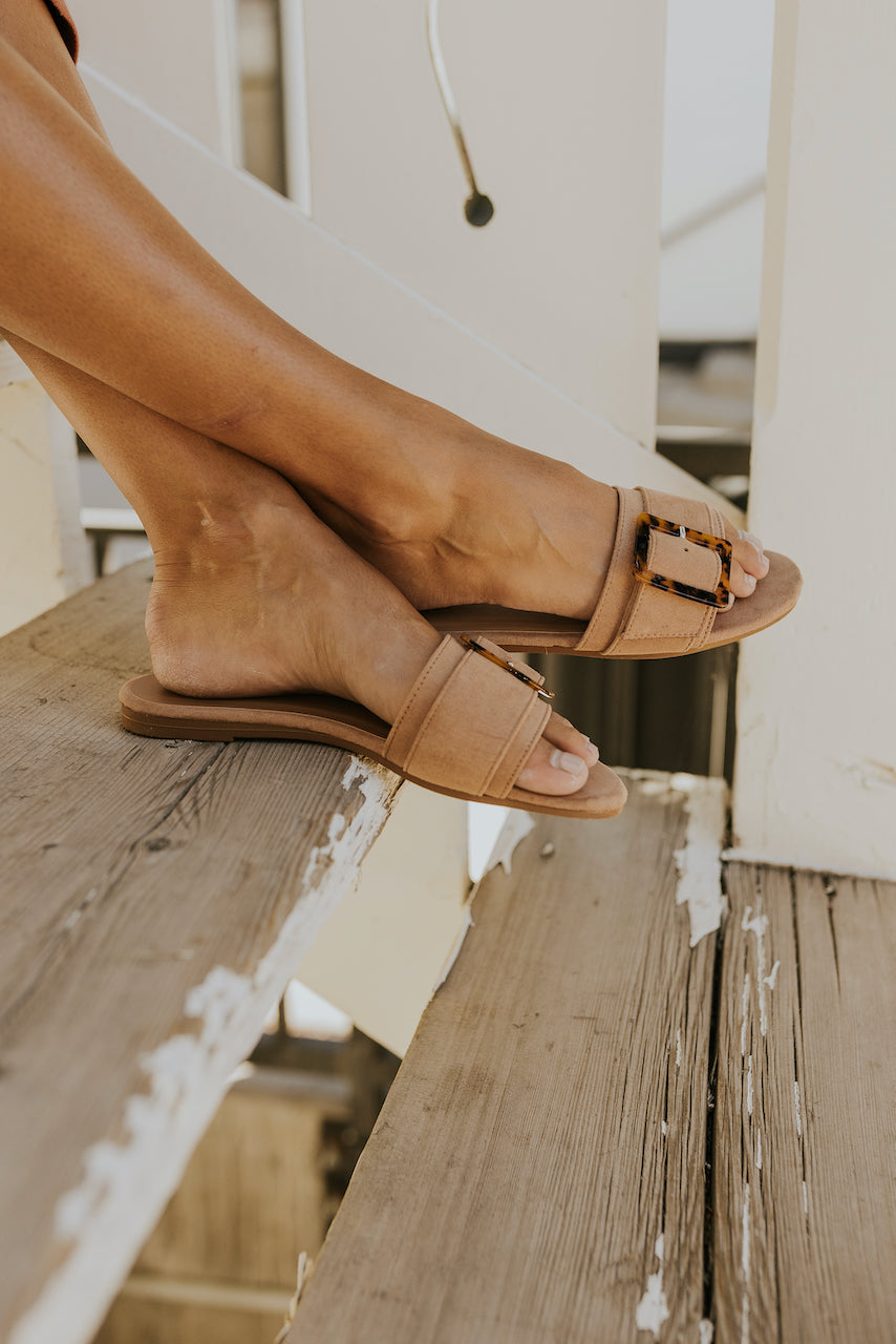 Tan flat sandals | ROOLEE