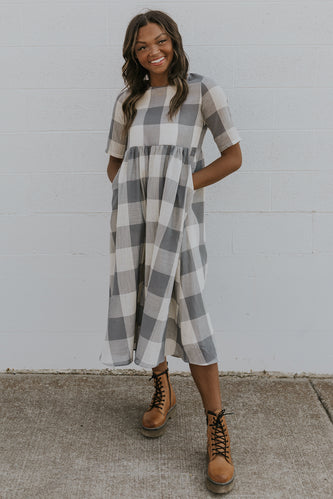 Maddie Buffalo Plaid MOM Dress
