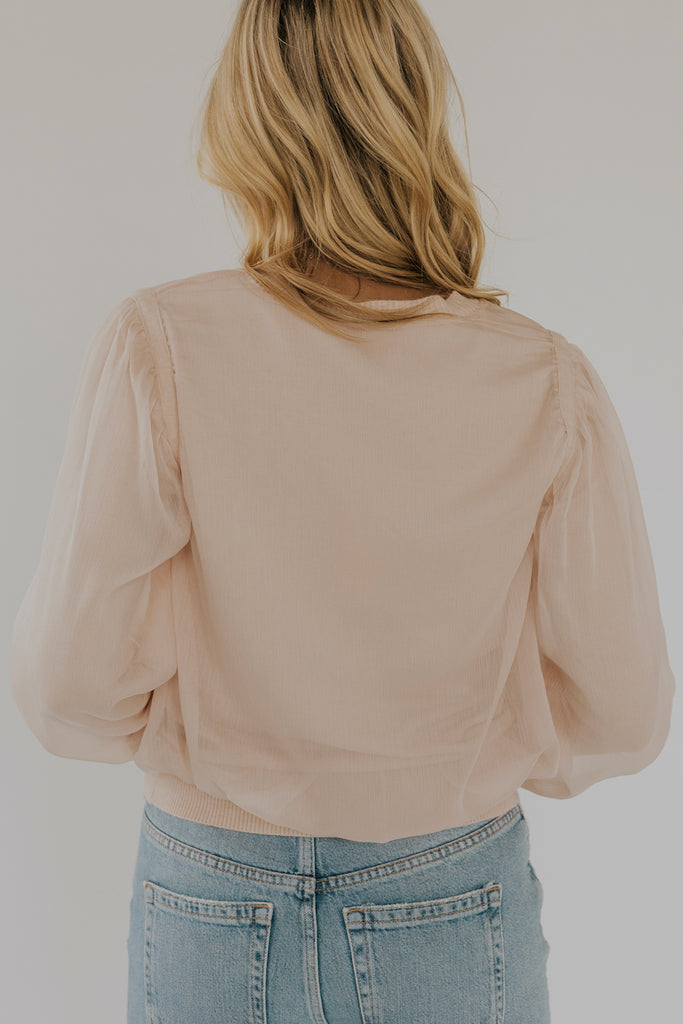 Pink tulle sweater | ROOLEE