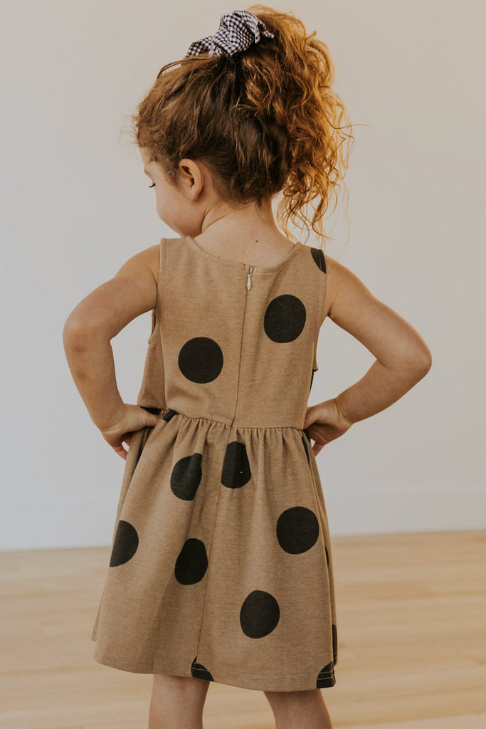 Girls polka dot tank dress | ROOLEE