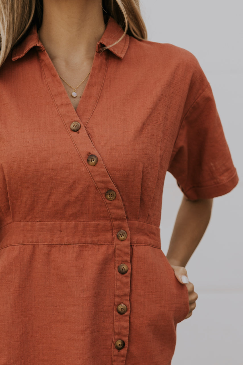 Button down front dress | ROOLEE