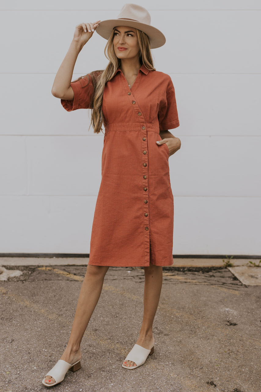 Cute and casual wrap front dress | ROOLEE