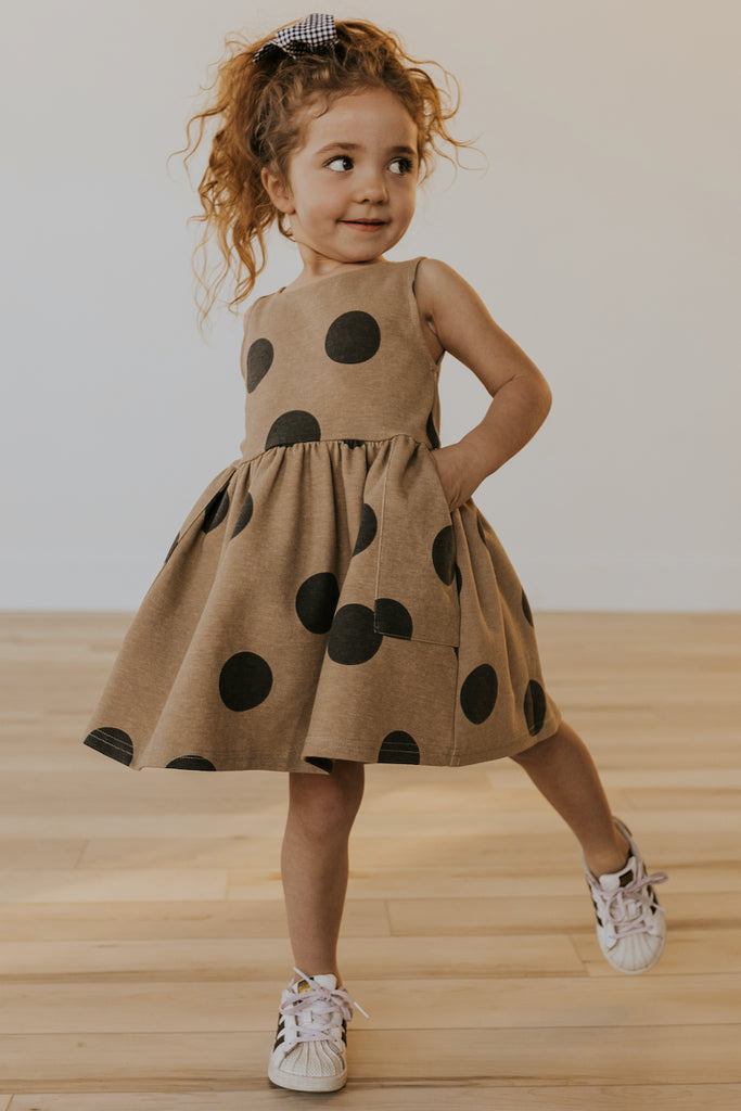 Tan spring girls dress | ROOLEE