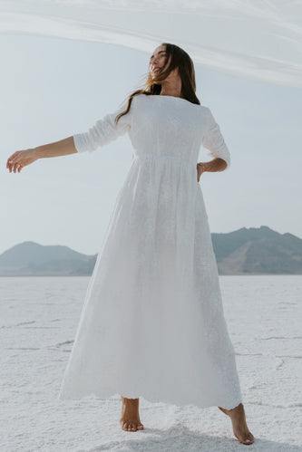White long sleeve dresses | ROOLEE