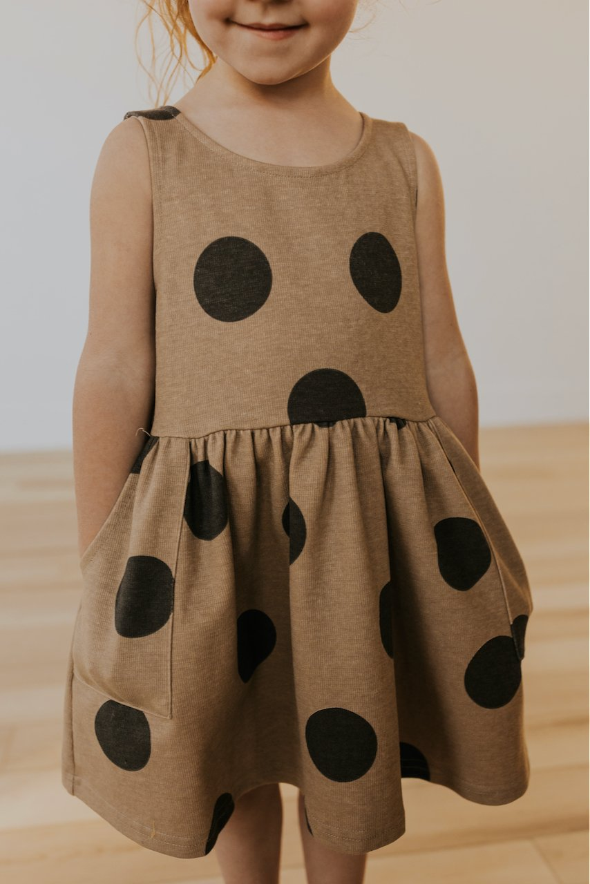 Spring polka dot babydoll dresses for kids | ROOLEE