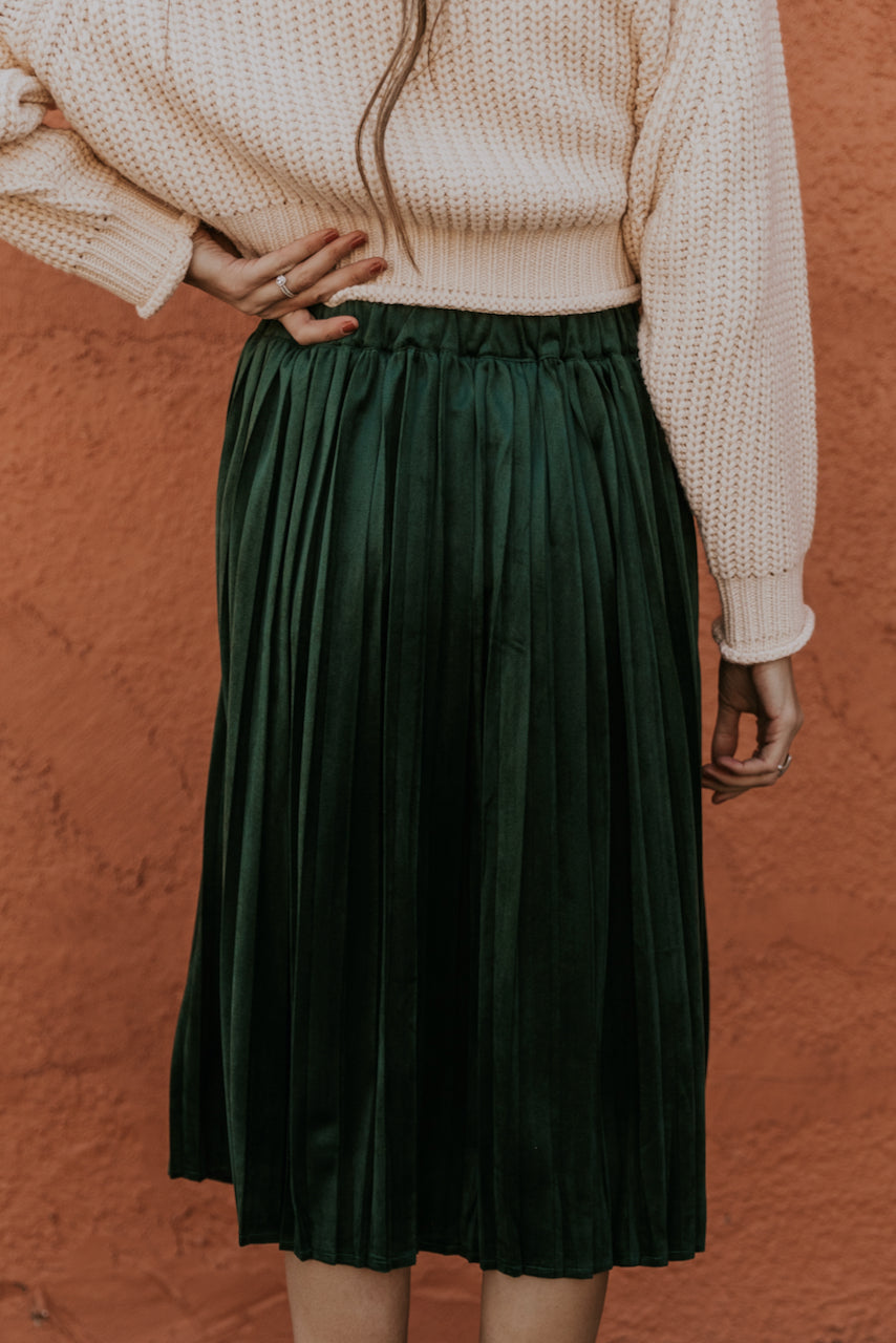 Pleated Velvet Skirt | ROOLEE