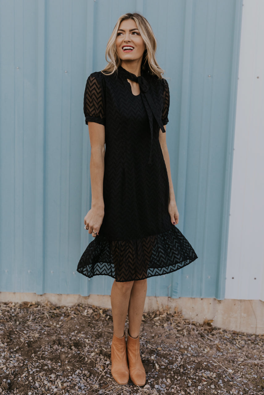Places to Be Ruffle Dress