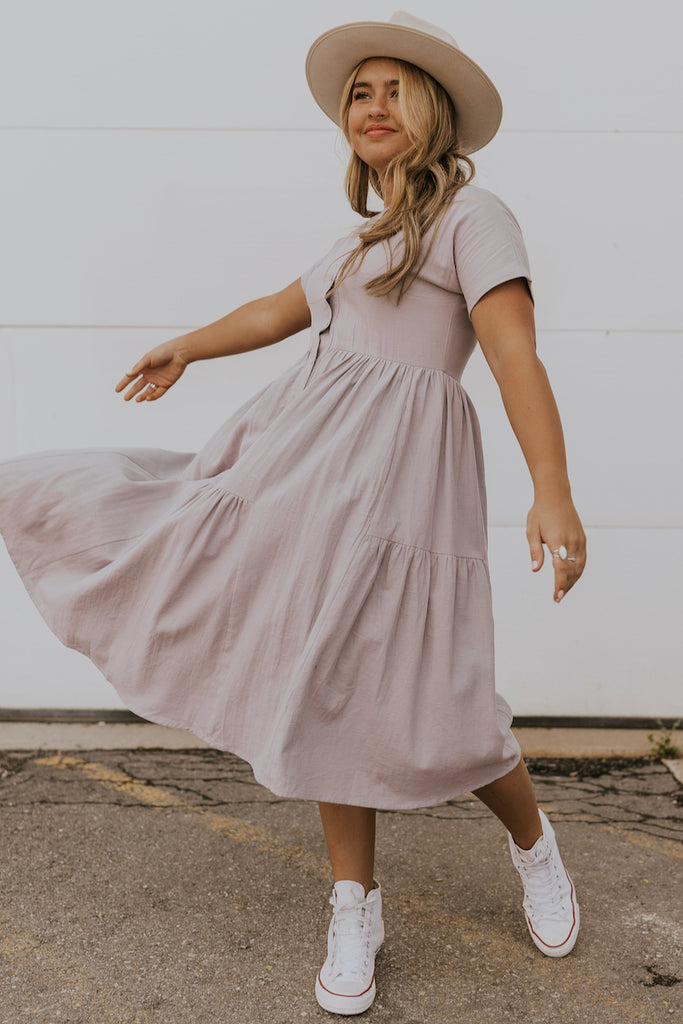Lilac mom dress | ROOLEE