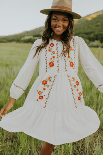 Floral Embroidered Dresses | ROOLEE