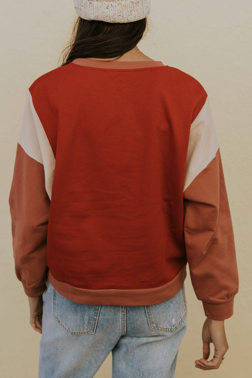 Red Long Sleeve Sweater | ROOLEE
