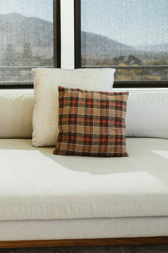 Red plaid pillow | ROOLEE