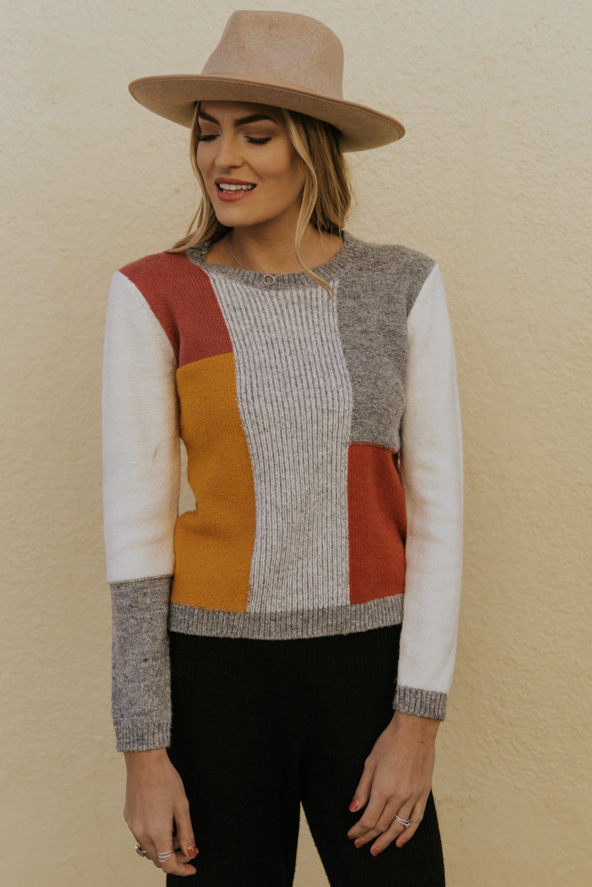 Colorblock Fall Sweater | ROOLEE