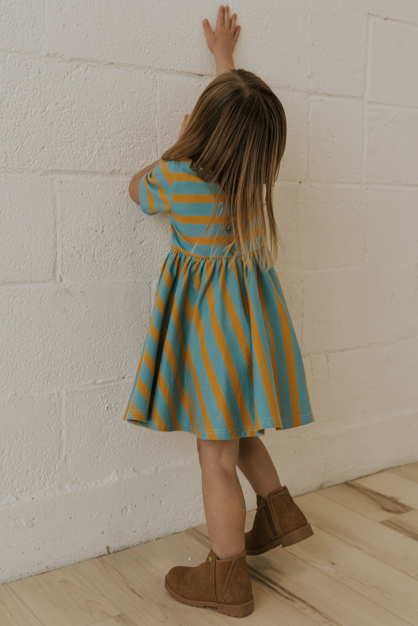 Bright Stripe Spring Dresses for Girls | ROOLEE
