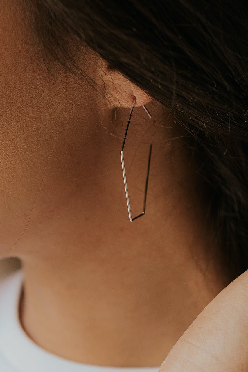 Simple Silver Earrings | ROOLEE
