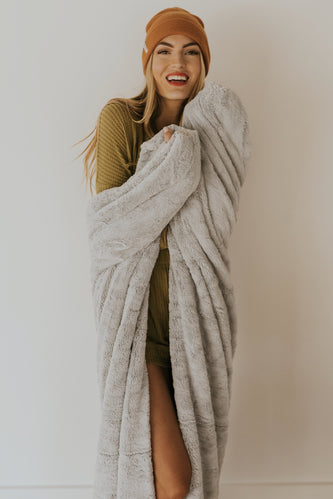 Gray Lush Throw