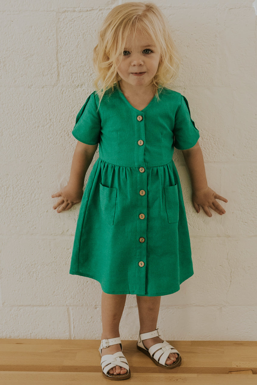 Cute Matching Girls Button Dresses | ROOLEE