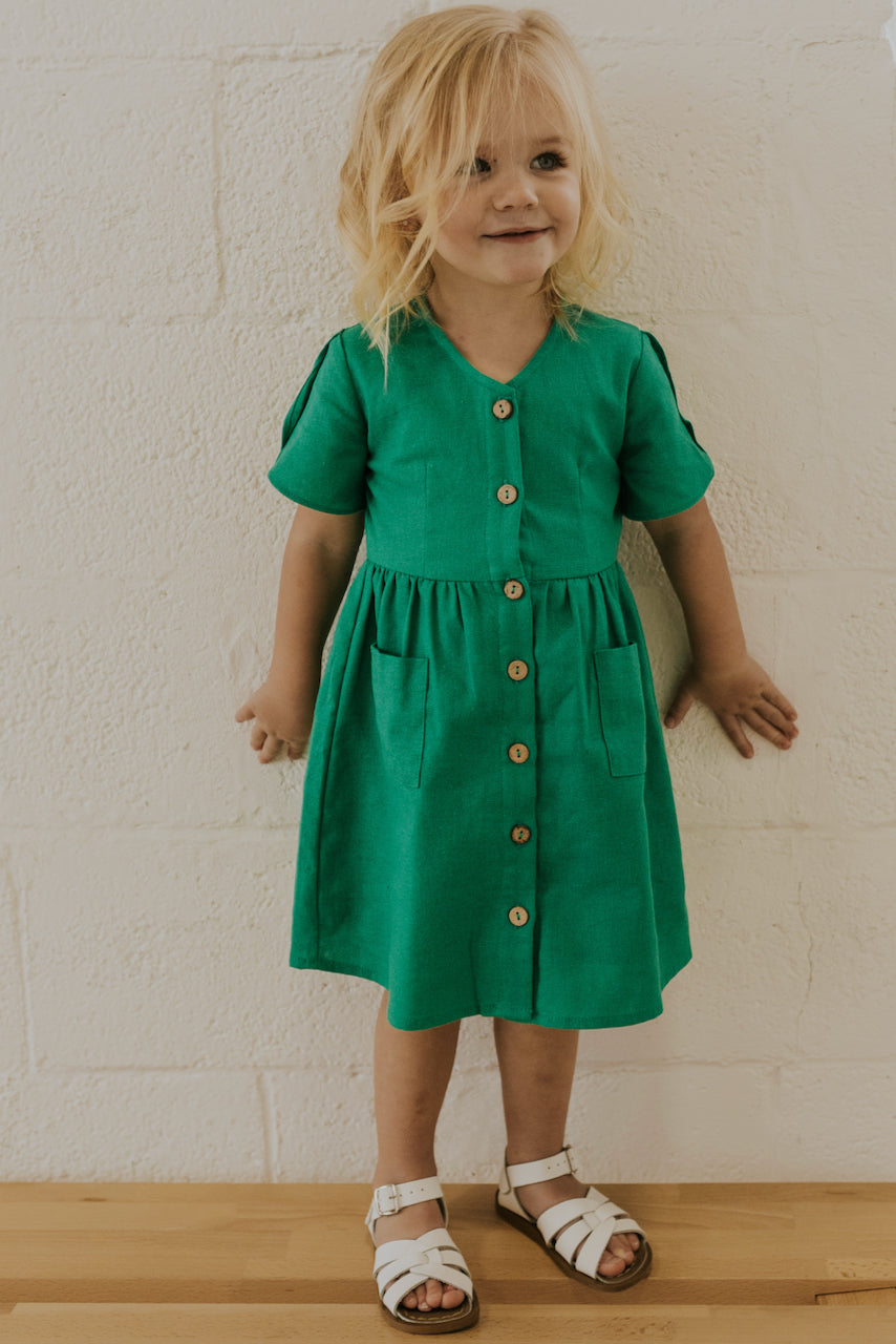 Girls Pocket Dress | ROOLEE