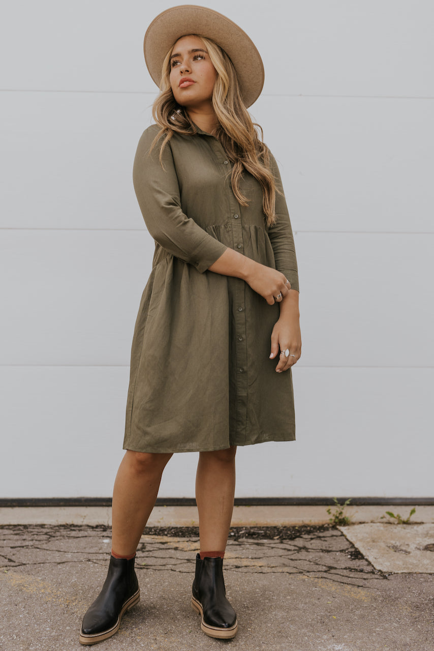 Green babydoll dress | ROOLEE