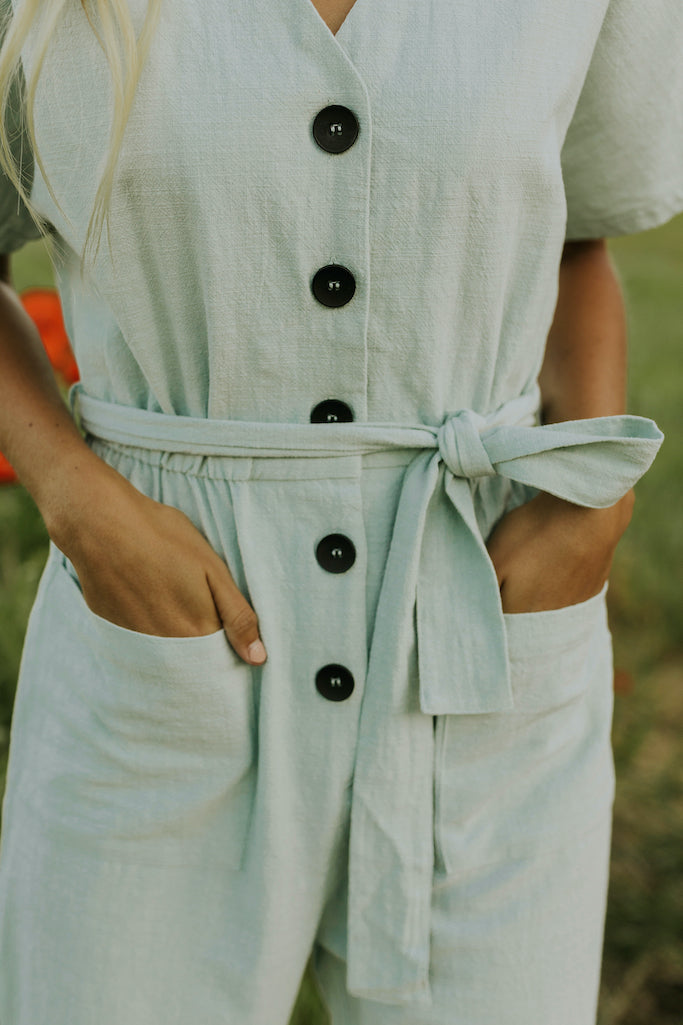 Light blue jumpsuits for summer | ROOLEE
