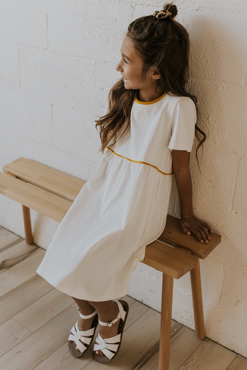 Simple white flower girl dresses | ROOLEE