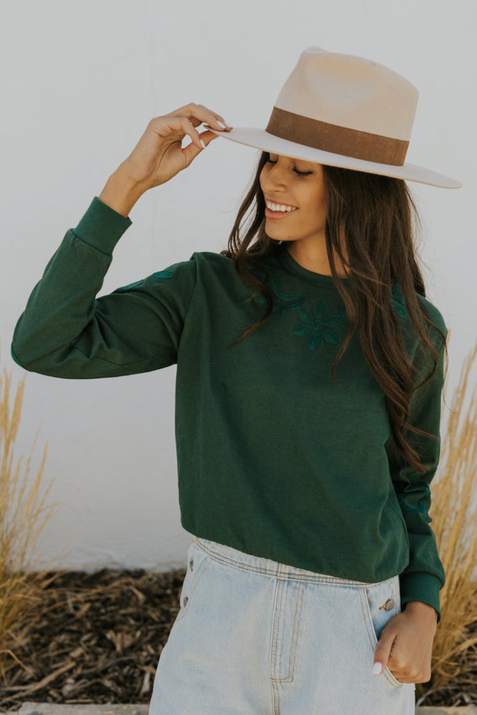 Fitz Embroidered Pullover