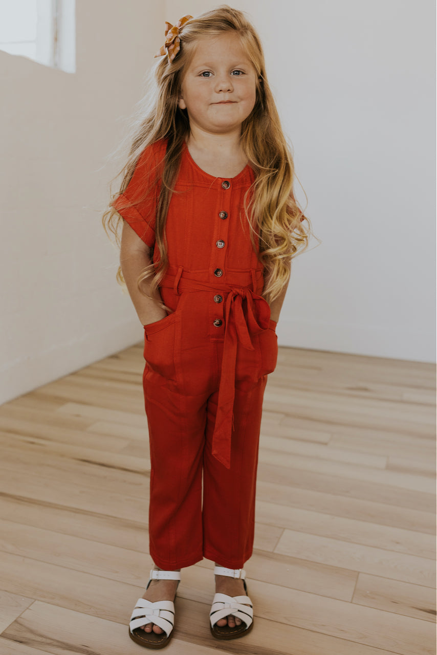 Mini Hello There Tie Jumpsuit