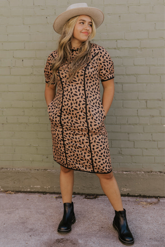 Cheetah nursing friendly dress | ROOLEE
