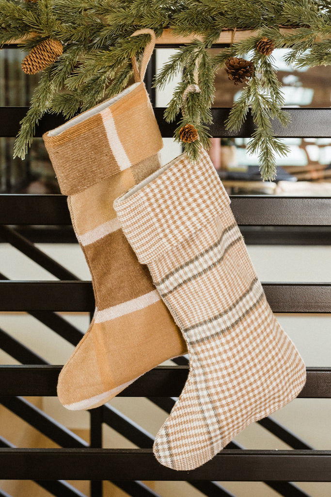 Yellow plaid stocking | ROOLEE