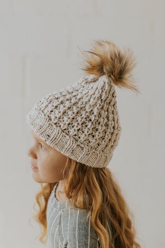 Mini Snow Angel Knit Pom Hat