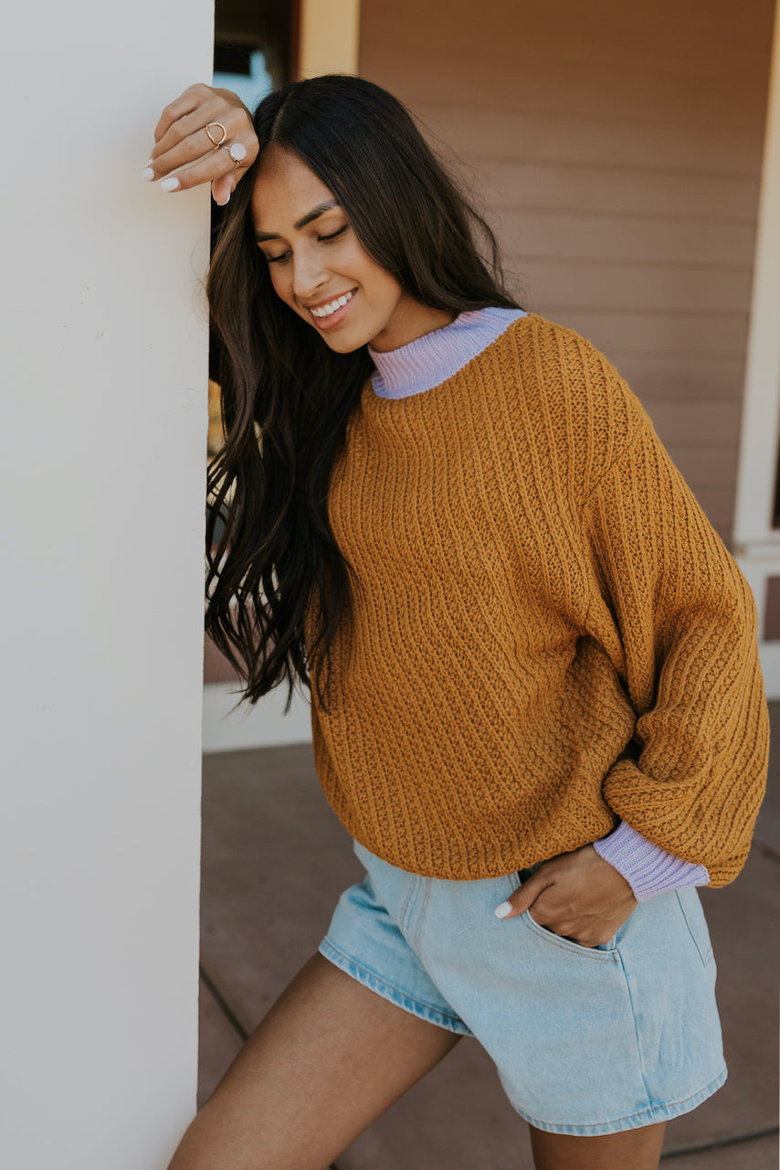 Pop of Color Sweater | ROOLEE