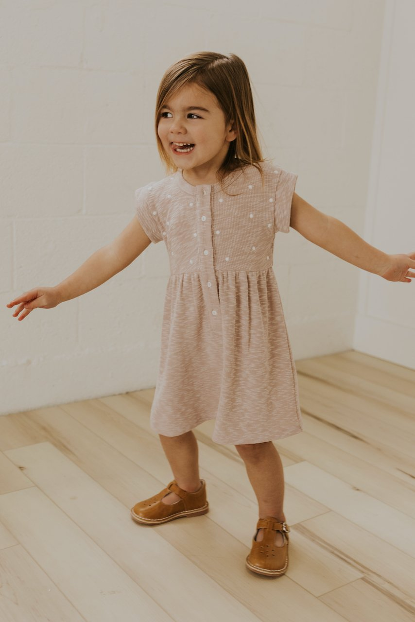 Girls Embroidered Dress | ROOLEE