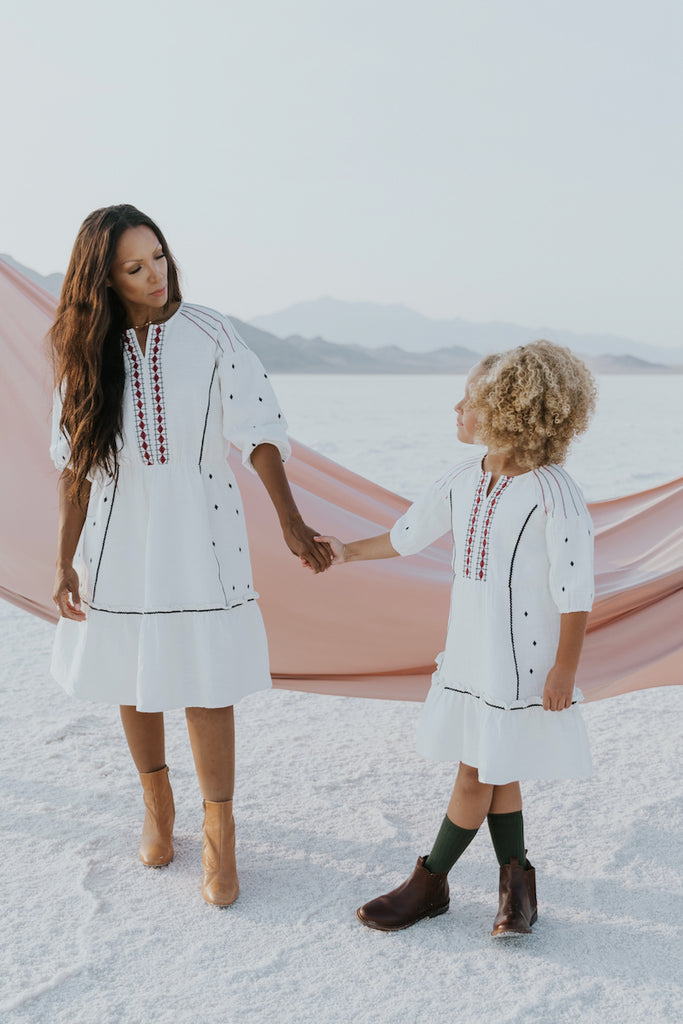 White flowing dress | ROOLEE