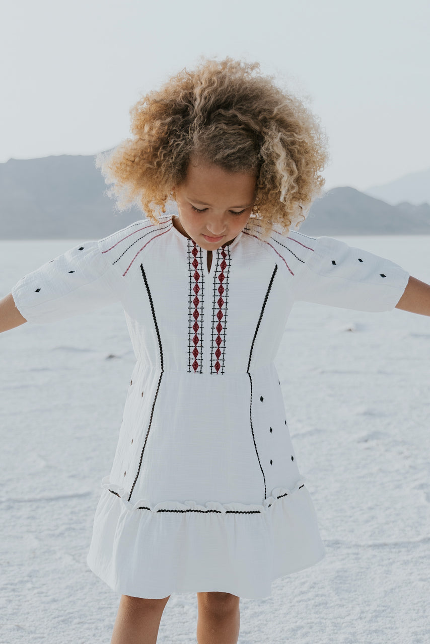 cute embroidery dresses for kids | ROOLEE