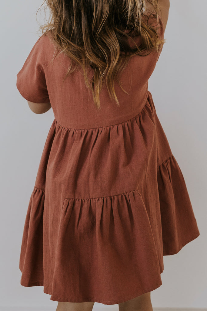 Tiered Button Front Dress | ROOLEE