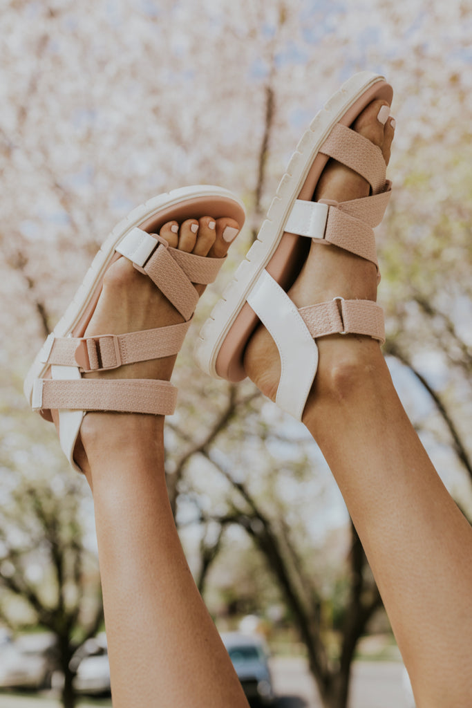 Cute Blush Spring Sandals | ROOLEE