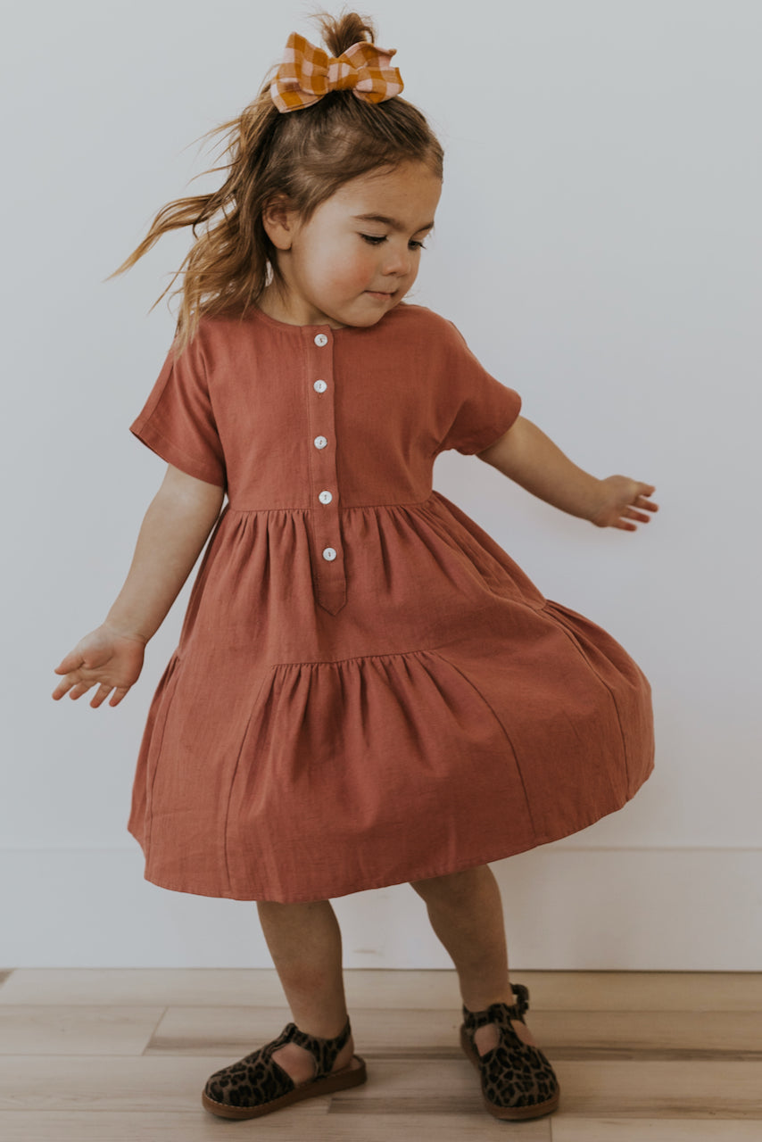 Tiered Girl's Spring Dress | ROOLEE