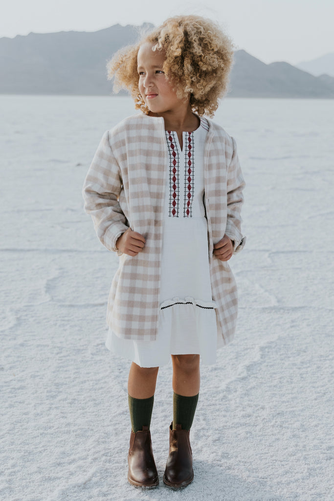 Cute embroidered dresses for kids | ROOLEE