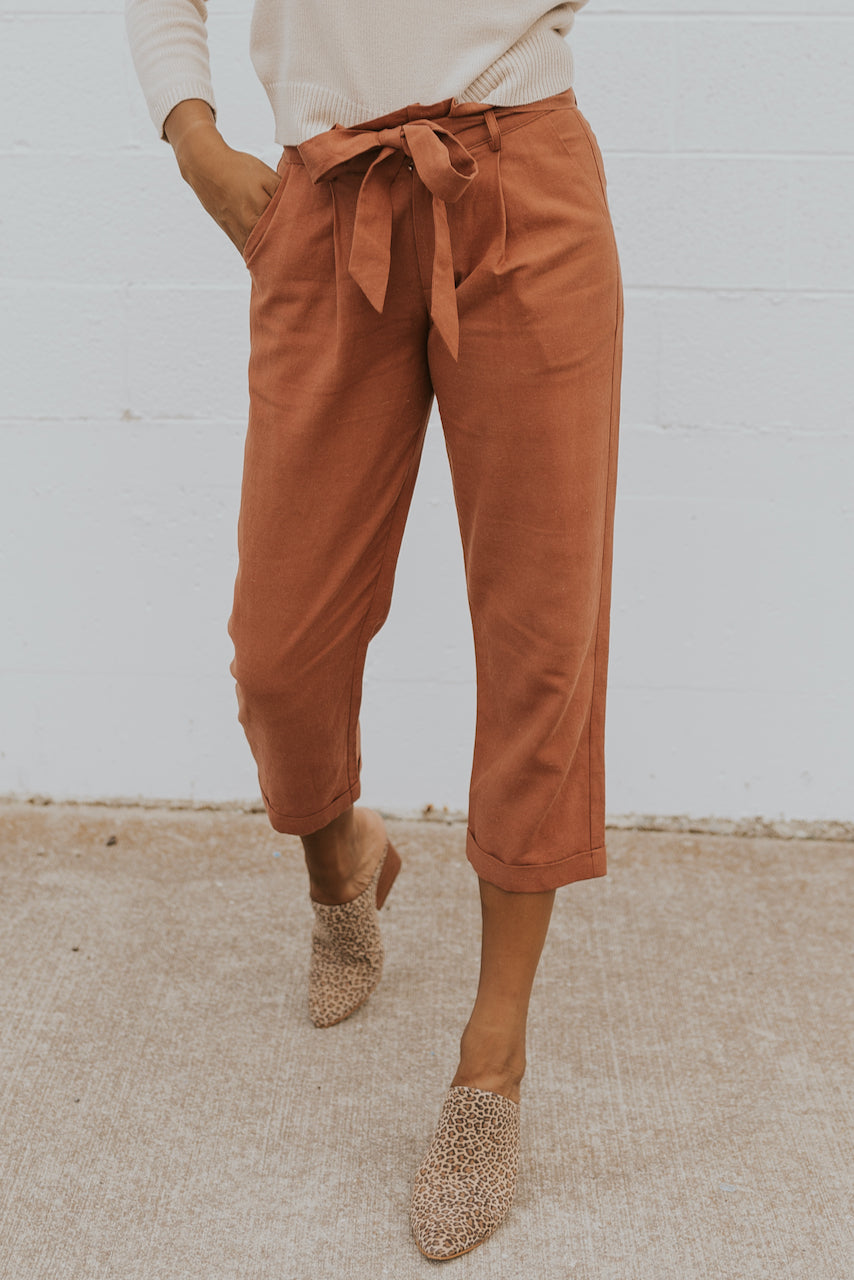 Rust trousers for fall | ROOLEE