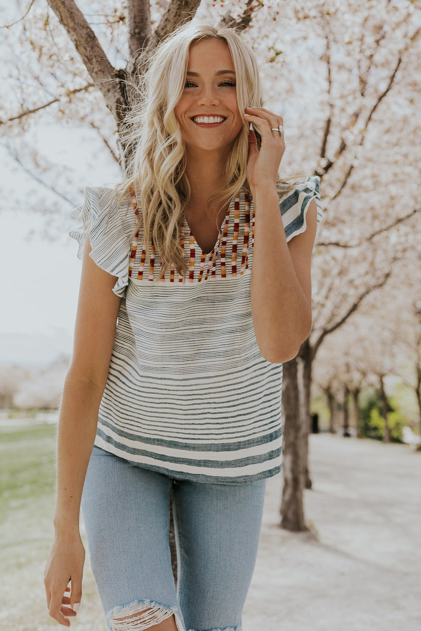 Cute Striped Blouses | ROOLEE